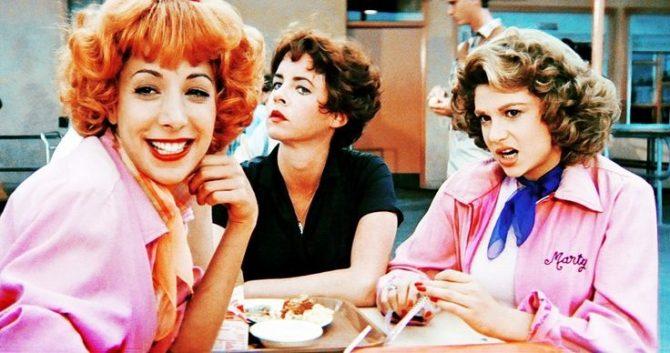 Pink ladies in Grease