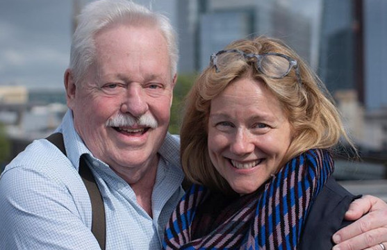 Armistead Maupin and Laura Linney