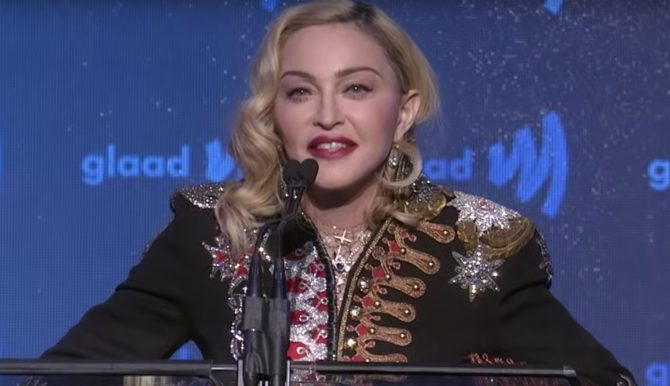 Madonna gets personal at the GLAAD Media Awards