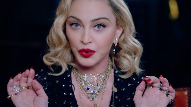 Madonnna making a face