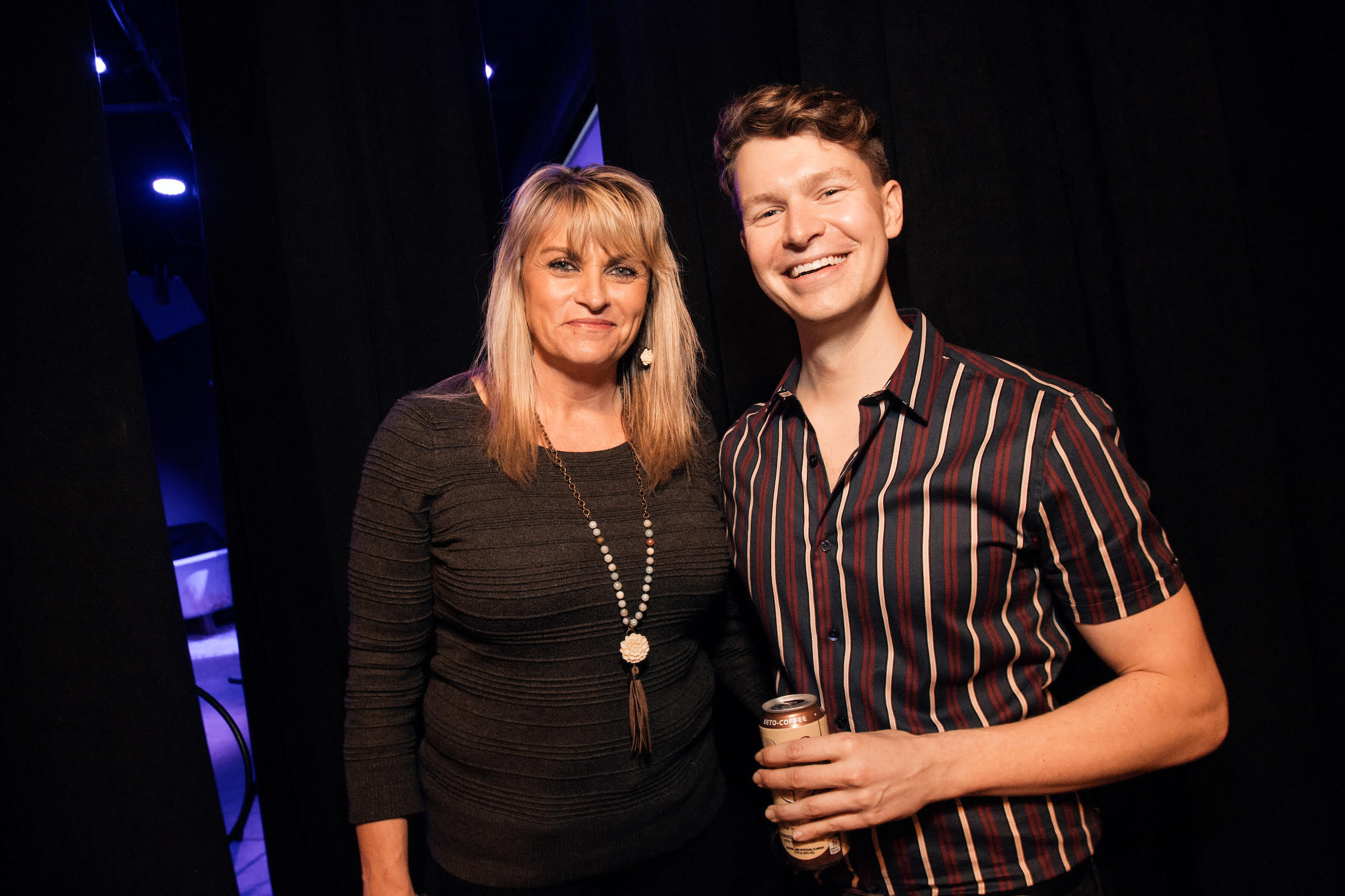Zach Zimmerman with his mom, Patty