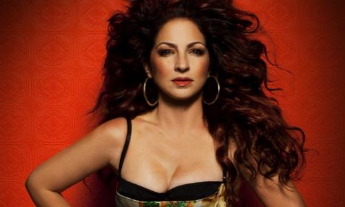 Gloria Estefan red background