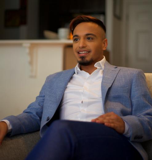 Jose Alfaro at home in Cambridge, MA, June 2019