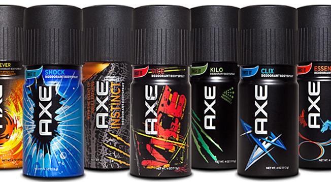 Axe body spray bottles