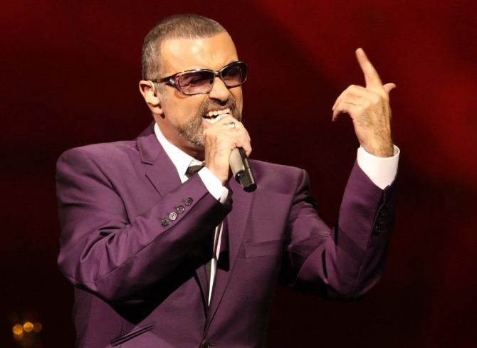 George Michael performs