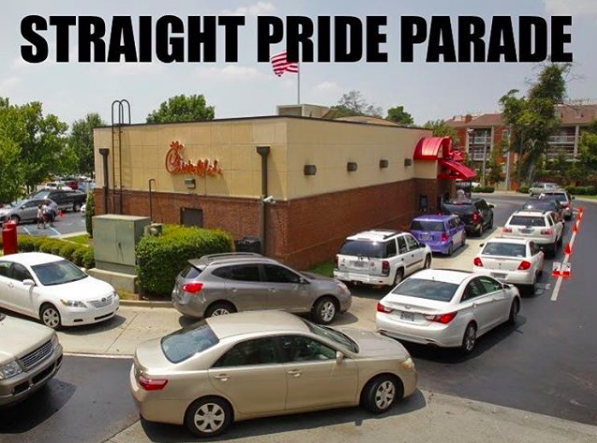 Straight pride meme