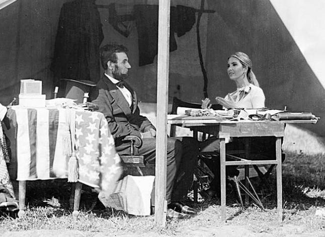 Ivanka Trump and Abe Lincoln