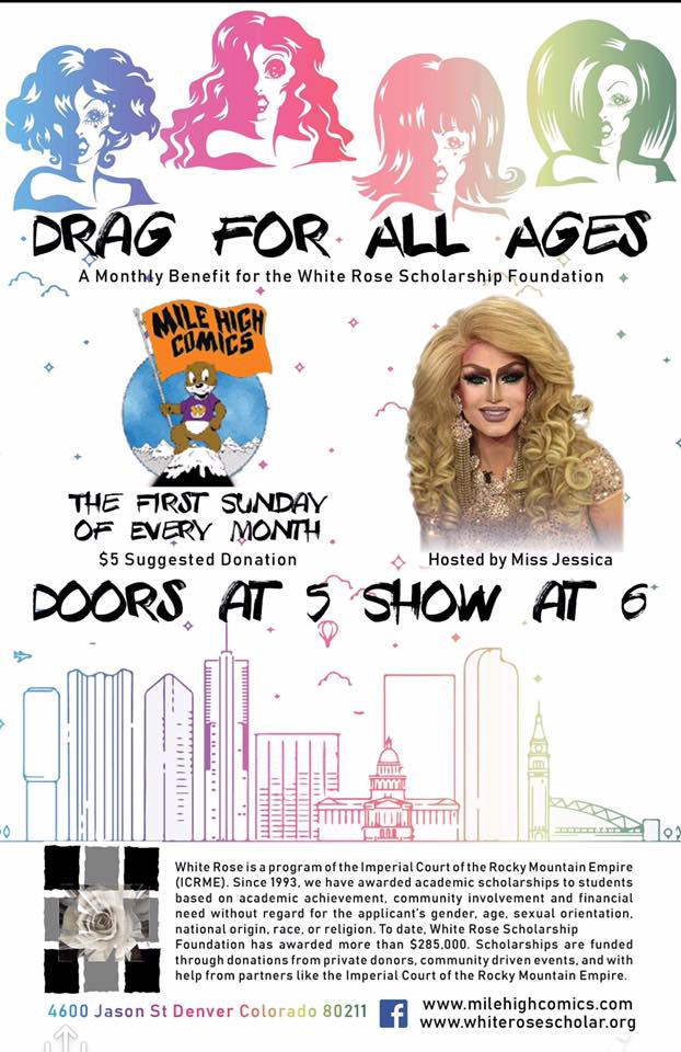 Mile High Comics, Colorado. Denver, Drag for All Ages, fundraiser, Proud Boys