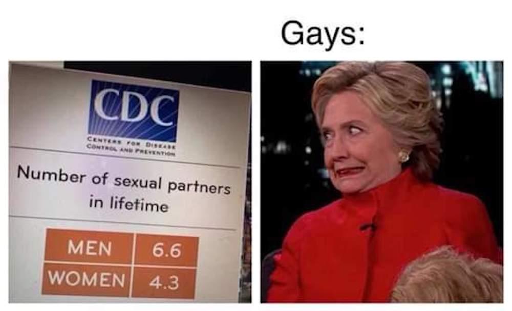 gay sex, statistics, meme, Hilary Clinton