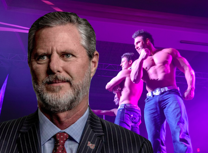 Jerry Falwell Jr. insists photos of him at Miami circuit party are fake, photographer shows receipts
