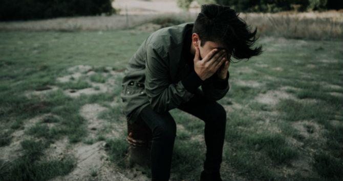 Depressed sad teenager