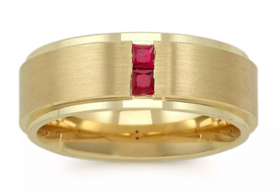Shane Co. Ruby Gold Ring
