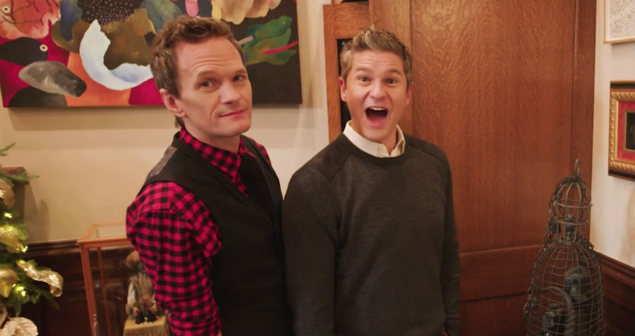 Neil Patrick Harris and David Burtka at home in New York City