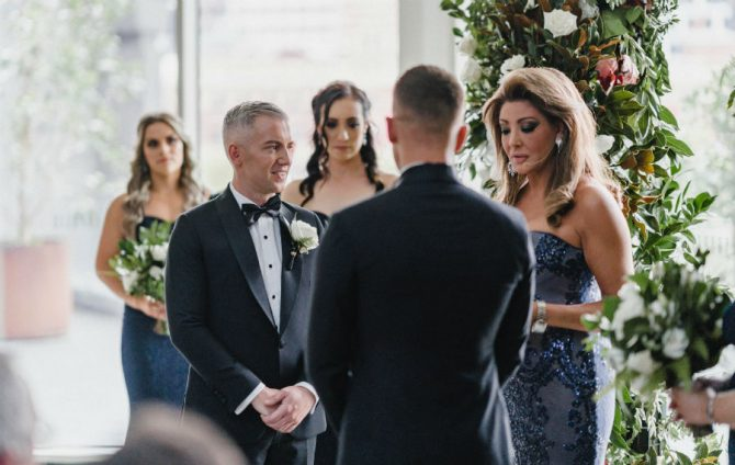 Michael and Daniel are married by a star of Real Housewives of Melbourne