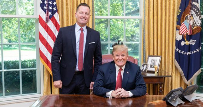 Richard Grenell and President Donald Trump