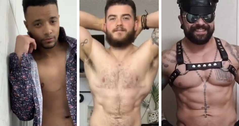 Trans masculine guys strip to their underwear in the viral video