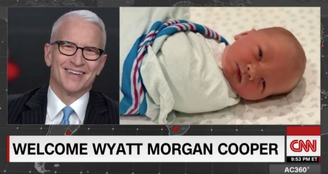 Anderson Cooper announces the birth of his son