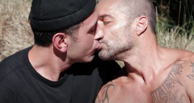 Husbands Jwan Yosef and Ricky Martin in the Residente music video
