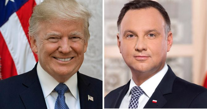 Presidents Donald Trump and Andrzej Duda