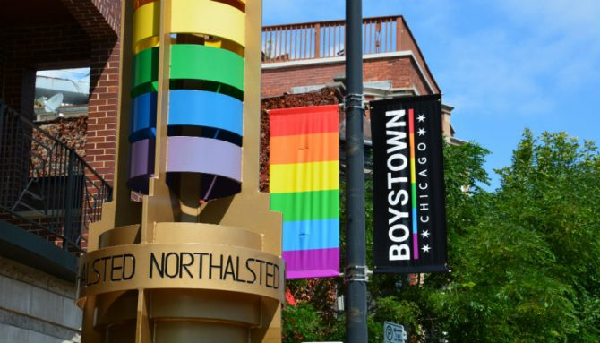 A banner in Chicago's Boystown (Photo: Shutterstock)