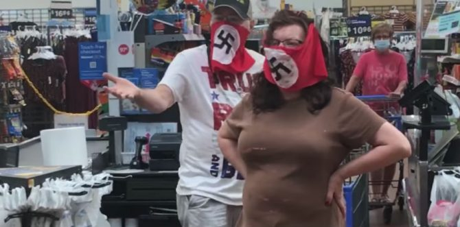The swastika-wearing shoppers at Walmart