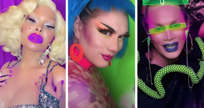 Amanda LePore, Manila Luzon and Raja in the new video from Erasure
