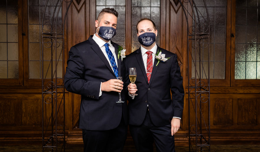 Same-sex wedding during COVID pandemic