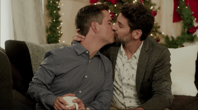 Lifetime is about to make Christmas super gay. We're here for it. / Queerty