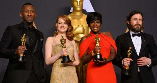 Winners of the 2017 acting Oscars: Mahershala Ali, Emma Stone, Viola Davis and Casey Affleck