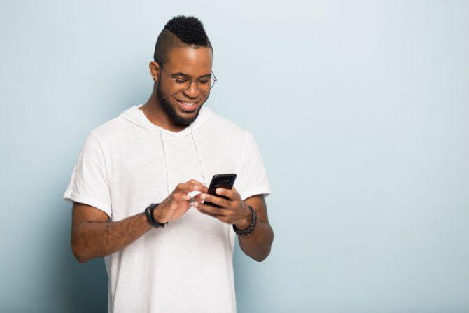 A man on a cellphone