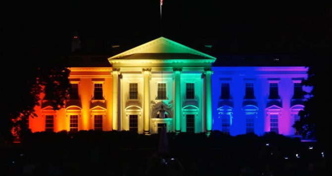 The White House in rainbow colors