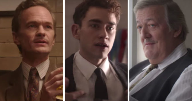 Neil Patrick Harris, Olly Alexander and Stephen Fry in It's A Sin