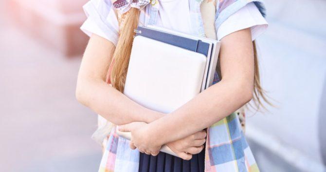 An elementary schoolgirl