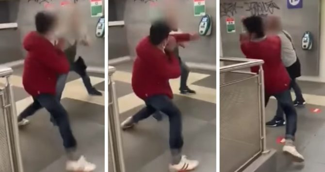 The anti-gay attack on a train platform in Rome, Italy