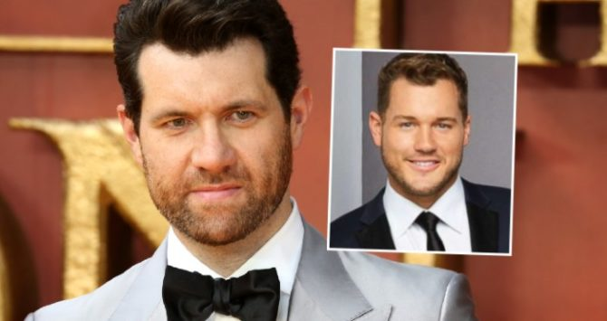 Billy Eichner and (inset) Colton Underwood