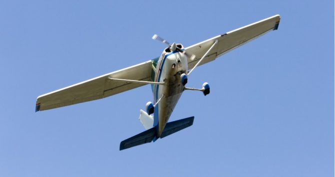 A Cessna-type aircraft