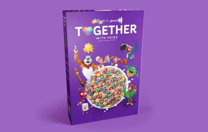 The Kellogg's Pride breakfast cereal for LGBTQ Pride month