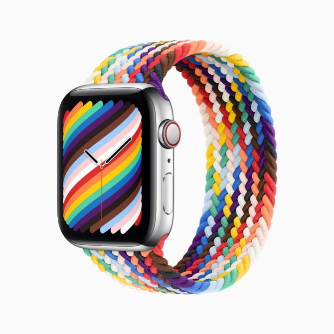 The Pride Edition Braided Solo Loop (Photo: Apple)