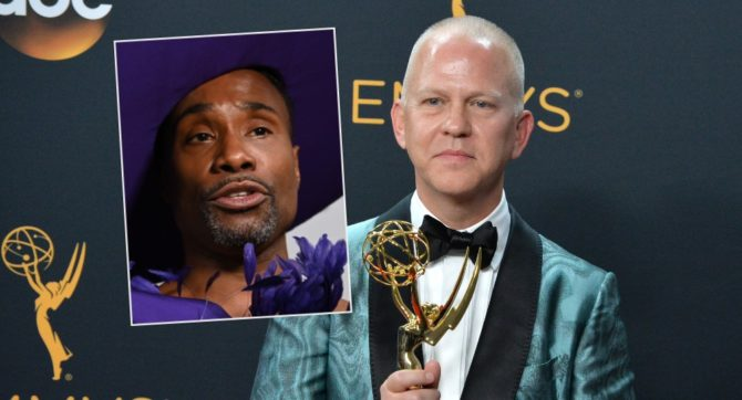 Billy Porter (inset) and Ryan Murphy