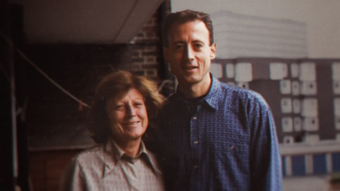 Peter Tatchell and his mother, Mardi Nitschke