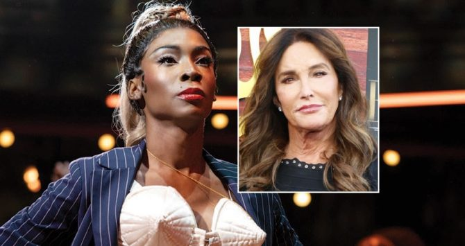 Angelica Ross in Pose, and (inset) Caitlyn Jenner