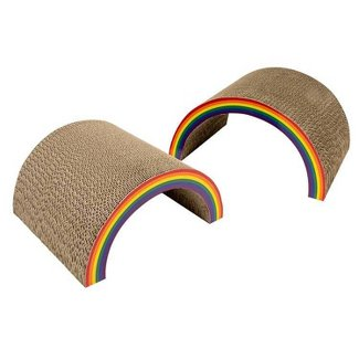 Boots & Barkley rainbow cat scratcher