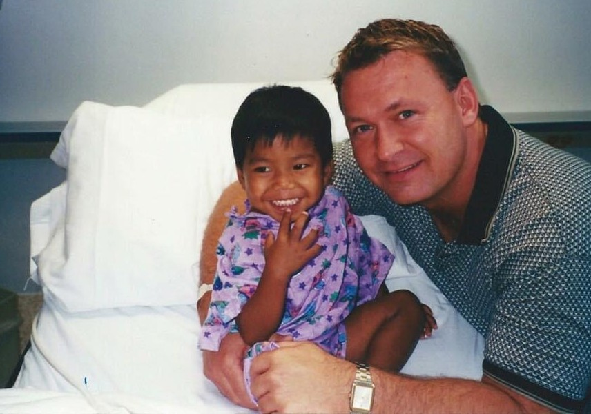 Jerry Windle with a young Jordan