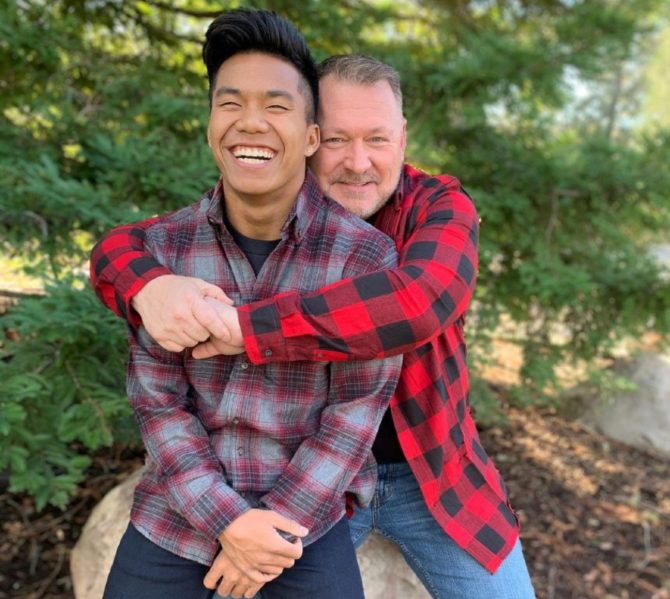 Jordan Windle and his dad, Jerry