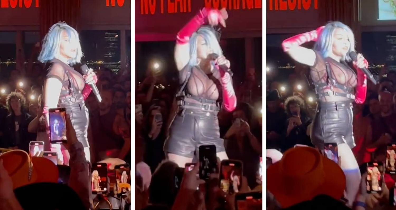 Madonna performs at the Standard High Line for Pride 2021
