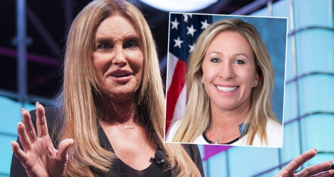 Caitlyn Jenner and Marjorie Taylor Greene