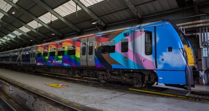 The new 'Pride of Scotland' train