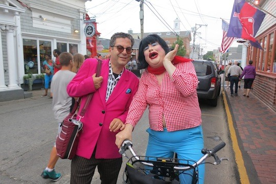 Michael Musto and Dina Martina in Ptown