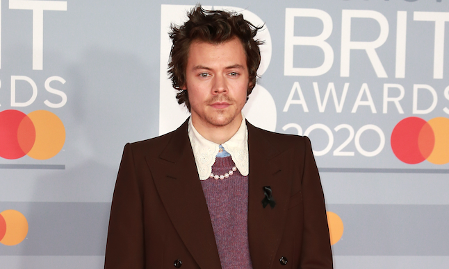 Harry Styles attends the Brit Awards at the 02 Arena in London, UK