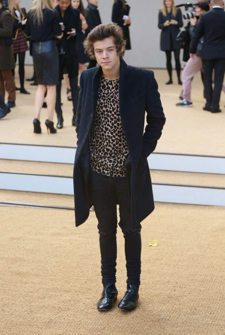 Harry Styles at London Fashion Week in 2014